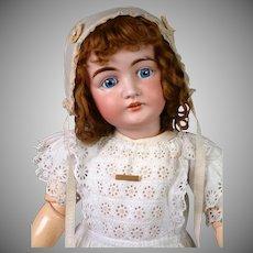 "Early Character Letter Kestner 30"" Antique Doll in White Antique Dress"