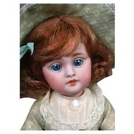 All-Original Kestner 143 Character Antique Bisque Doll 9""