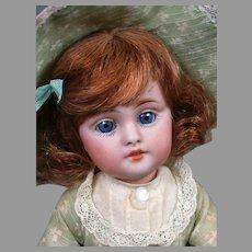 """All-Original Kestner 143 Character Antique Bisque Doll 9"""""""