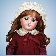 "SFBJ 60 Antique Bisque Doll 18"" in Bebe Dress"