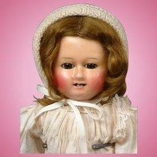 """Darling Motschmann Wax over Paper Mache Antique Doll 14"""""""