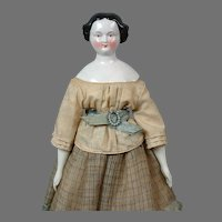 "Rare Brown-Eyed China Lady 17"" with Provenance in Original Costume"