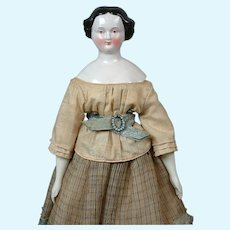 """Rare Brown-Eyed China Lady 17"""" with Provenance in Original Costume"""
