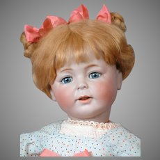 "24"" Super Rare Simon & Halbig 1489 Character Portrait Doll ""ERIKA"" with the Cutest Expression Circa 1912"