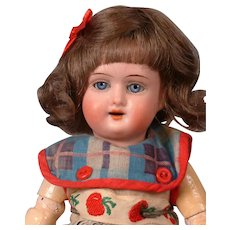 Schoneau & Hoffmeister 1909 Antique Bisque Girl Doll 9""