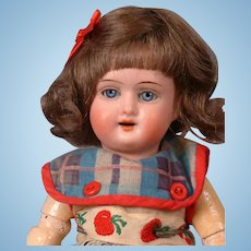 """Schoneau & Hoffmeister 1909 Antique Bisque Girl Doll 9"""""""