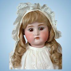 "Kammer & Reinhardt / Simon & Halbig 28"" Antique Bisque Doll with Human Hair Wig"