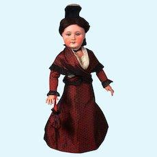 """All-Original UNIS 301 Antique Bisque Doll 24"""""""