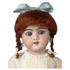 """Heinrich Handwerck 109 Antique Bisque Doll 22"""" with Blue Eyes"""