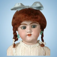 "Heinrich Handwerck 109 Antique Bisque Doll 22"" with Blue Eyes"