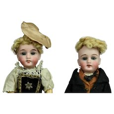 A Pair of Sweet All Original Gebruder Kuhnlenz Mignonettes 8""