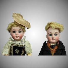 "A Pair of Sweet All Original Gebruder Kuhnlenz Mignonettes 8"""