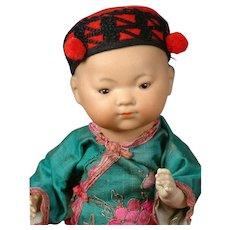 """Oriental Baby Boy Antique Doll Armand Marseille """"Ellar"""" 11"""""""
