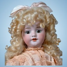 """Simon & Halbig 1039 Walking Crying Antique Bisque Doll in Silk Dress 22"""""""