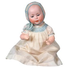 """Swaine and Co. Antique Baby Character Doll 14"""""""