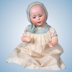 Swaine and Co. Antique Baby Character Doll 14""