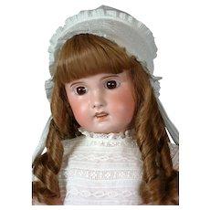 "SFBJ Jumeau Antique French Bisque Doll 27"" in Antique Dress"