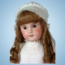 "SFBJ Jumeau Antique French Bisque Doll 27"" in Antique Dress"