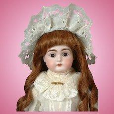 """Kestner 148 Antique Bisque Doll on Kidaline Body 16.5""""-- Adorable!"""