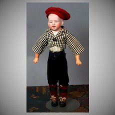 """Charming 12.5"""" German Character Boy with Intaglio Eyes"""