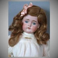 """Kestner 174 Antique Bisque Child Doll with Original Wig 18"""""""