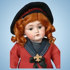 Kestner 143 Antique Bisque Character Doll 13""