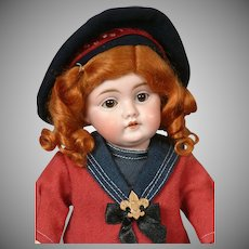 """Kestner 143 Antique Bisque Character Doll 13"""""""