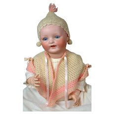 """Baby Vanta"" Louis Amberg Bisque Baby Doll 25"""