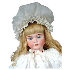 "Huge 34"" Simon & Halbig 1249 ""SANTA"" Antique Doll in Antique Costume--Gorgeous!"
