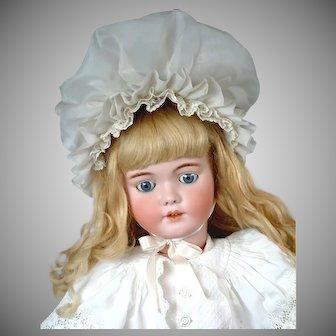 "Huge 34"" Simon & Halbig 1249 ""SANTA"" Antique Doll in Antique Costume--Gorgeous!"