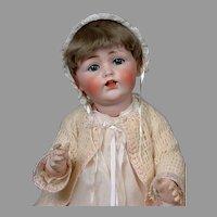"Adorable Kestner 257 Antique Character Baby 23"" in Antique Dress"