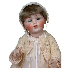 "Adorable Kestner 257 Antique Character Baby 23"" in Antique Dress"
