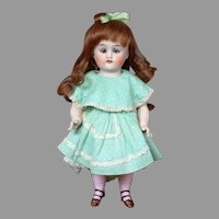 "9"" All-Bisque 7547 Antique Cabinet Doll with Sleep Eyes"