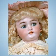 """RARE 19""""  Simon & Halbig 1039 With Flirty Eyes For the French Market"""