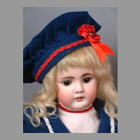 "Bahr & Proschild Sailor Girl Antique Child Doll 20"" with Original Wig"