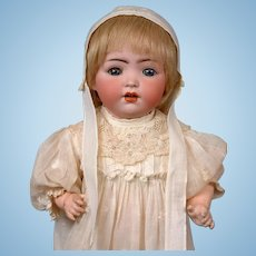 Simon & Halbig / Cuno Otto Dressel 1294 Antique Bisque Toddler Doll in Antique Dress and Bonnet