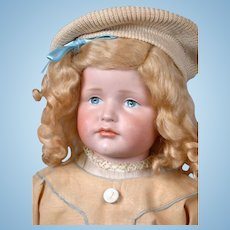 """Gretchen"" Kammer & Reinhardt 214 Antique Shoulderhead Doll on Kid Body 22"""