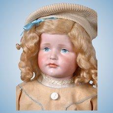 """""""Gretchen"""" Kammer & Reinhardt 214 Antique Shoulderhead Doll on Kid Body 22"""""""