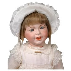 "26"" Rare Chunky SFBJ 236 Laughing Jumeau French Character Toddler Girl in Original Dress & Wig"