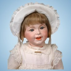 """26"""" Rare Chunky SFBJ 236 Laughing Jumeau French Character Toddler Girl in Original Dress & Wig"""