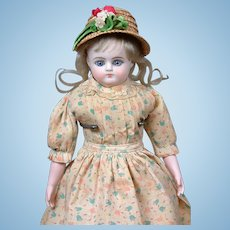 "Antique Bisque Child Fashion Doll with Paperweight Eyes 11.5"" All-Original"