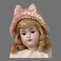 "Kestner 168 Antique Bisque Child Doll 22"" in Cute Costume"