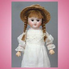"Adorable 11.5"" (29 cm) SFBJ "" Almost Bleuette "" Doll in Antique White Dress"