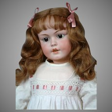"""Huge & Chunky 32"""" Simon & Halbig 1279 Character Child circa 1912 in Antique Whites"""