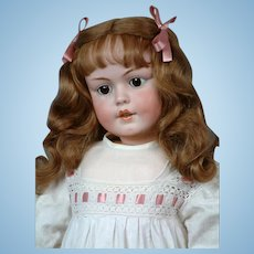 "Huge & Chunky 32"" Simon & Halbig 1279 Character Child circa 1912 in Antique Whites"