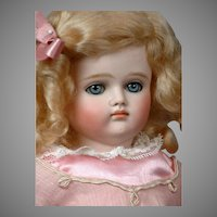 """17"""" Turned-Head Closed-Mouth Pouty Kestner Lady is Pretty in Pink!"""