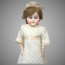 "Darling 21"" German Shoulderhead Doll on Antique Kidskin Body"