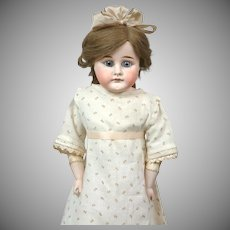 "Darling 21"" German Shoulderhead Doll on Antique Kidskin Body"