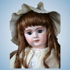 """French DEP Bebe with Head by Simon & Halbig 29"""" with Blue Eyes"""