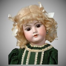 "Heinrich Handwerck 99 21"" Antique Bisque Child Doll in Green"